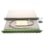 "1U 19"" Equipped single mode sliding patch panel"