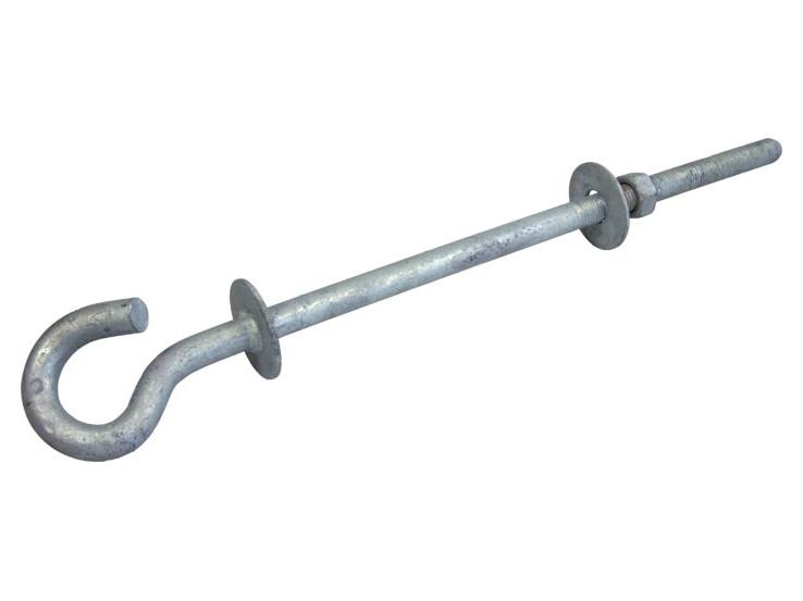 Pigtail hook bolt