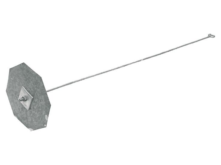 Tige et plaque d'ancrage