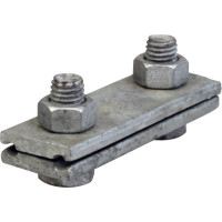 Parallel groove clamp with 3 bolts