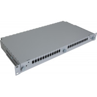 "1U 19"" Single mode sliding patch panel for trunk cables"